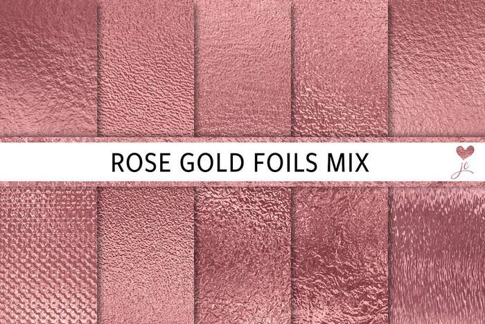 Rose Gold Foils Mix