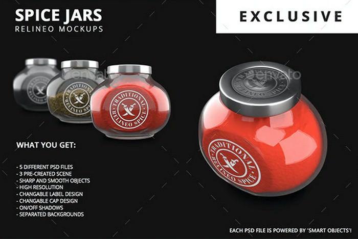 Spice Jar Mock-up Pack