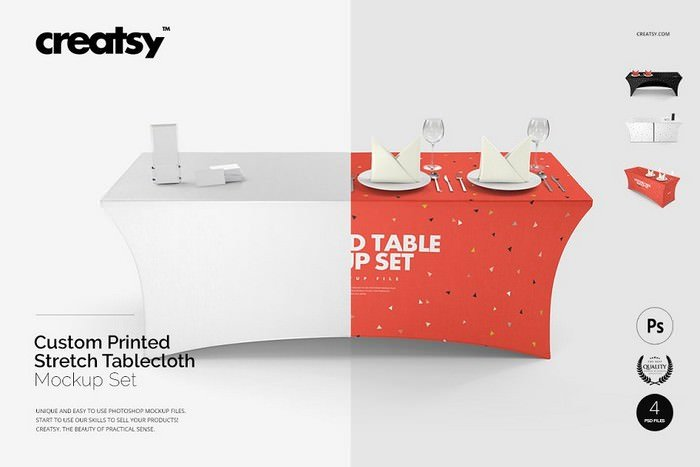 Stretch Tablecloth Mockup