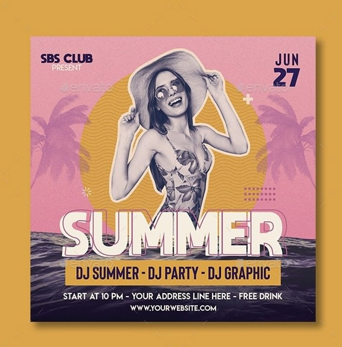Summer Retro Flyer Template