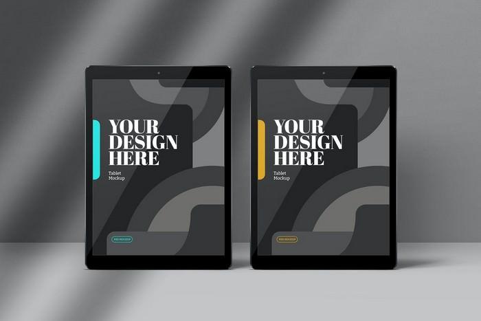Tablet Mockups Black Front