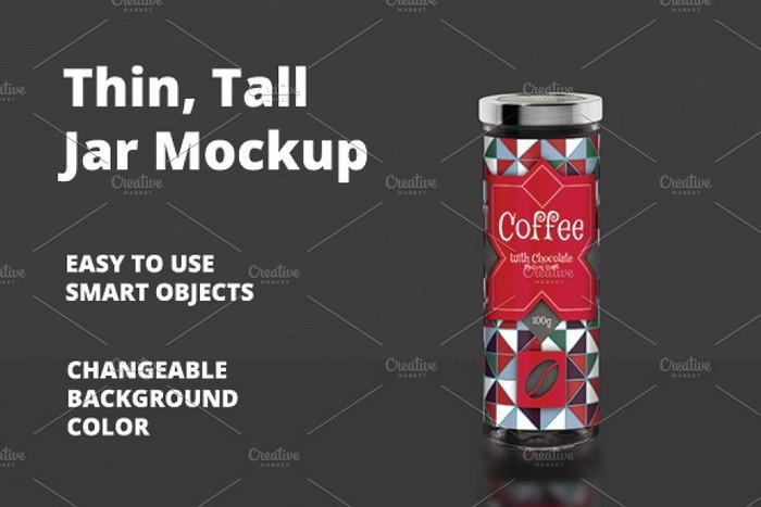 Thin - Tall Jar Mockup