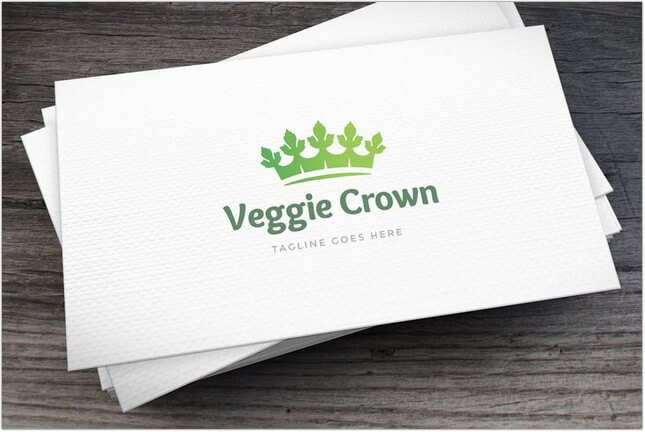 Veggie Crown Logo Template
