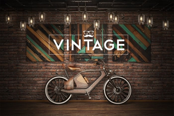 Vintage Bicycle Mockup