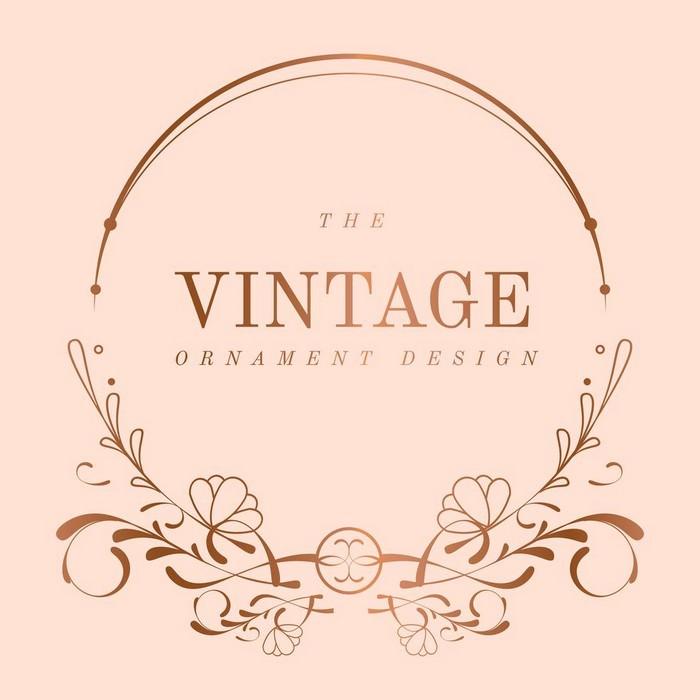 Vintage Rose Gold Art Nouveau