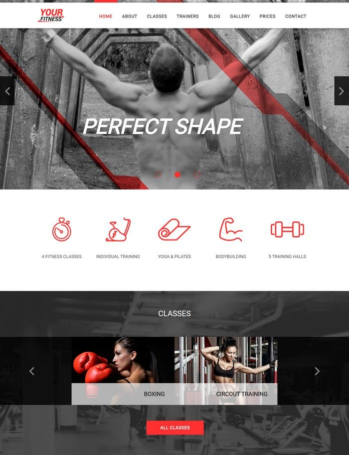 YourFitness Sport Joomla Theme for Gym