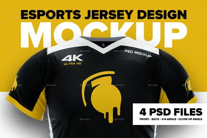4K Esports Jersey Mockup