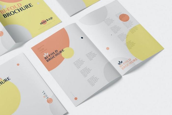 A5 Bi-Fold Brochure Mock-Up Set 3500×2300 px