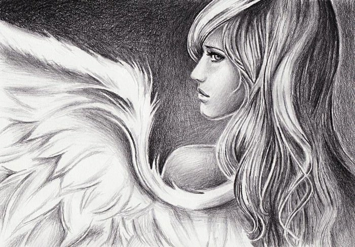 Beautiful Angels Drawings