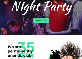Anondho - Night Club & Event HTML5 Template