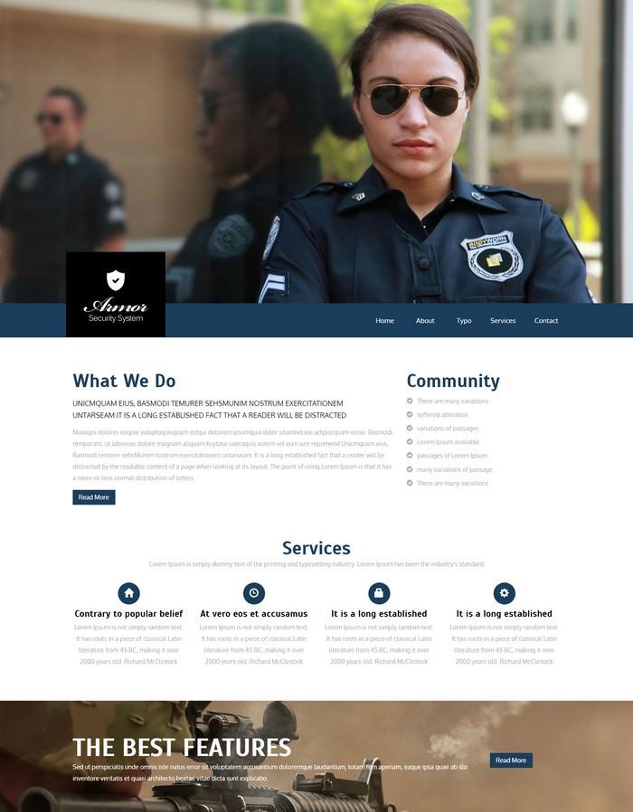 Armor a Services Responsive Web Template