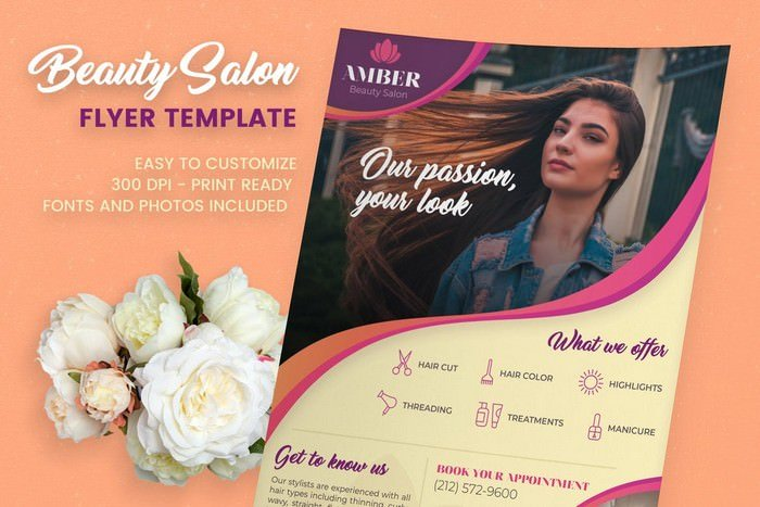 Beauty Hair Salon Flyer