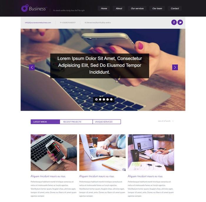 Business Corporate Responsive Web Template