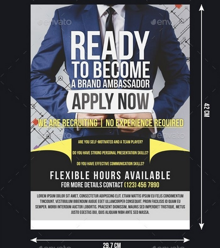 Business Recruitment Flyer Template