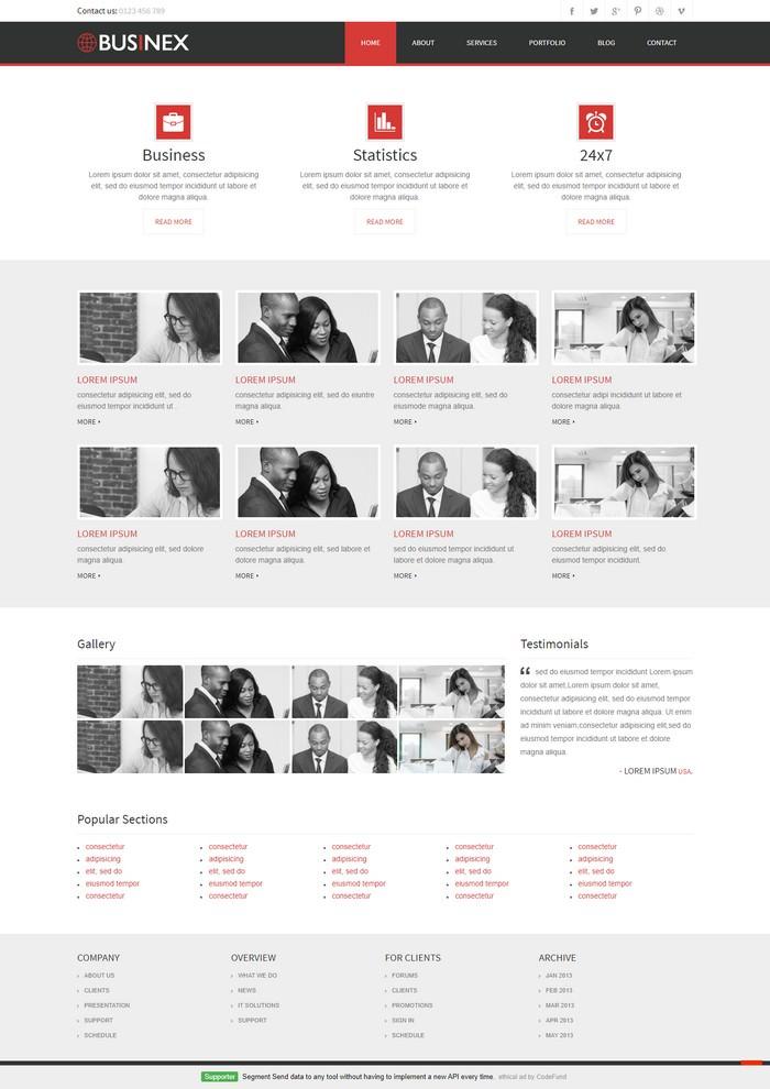 Businex Website Template