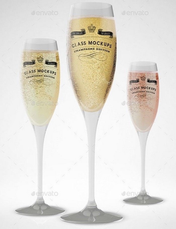 Champagne Glass Mockup Volume 8
