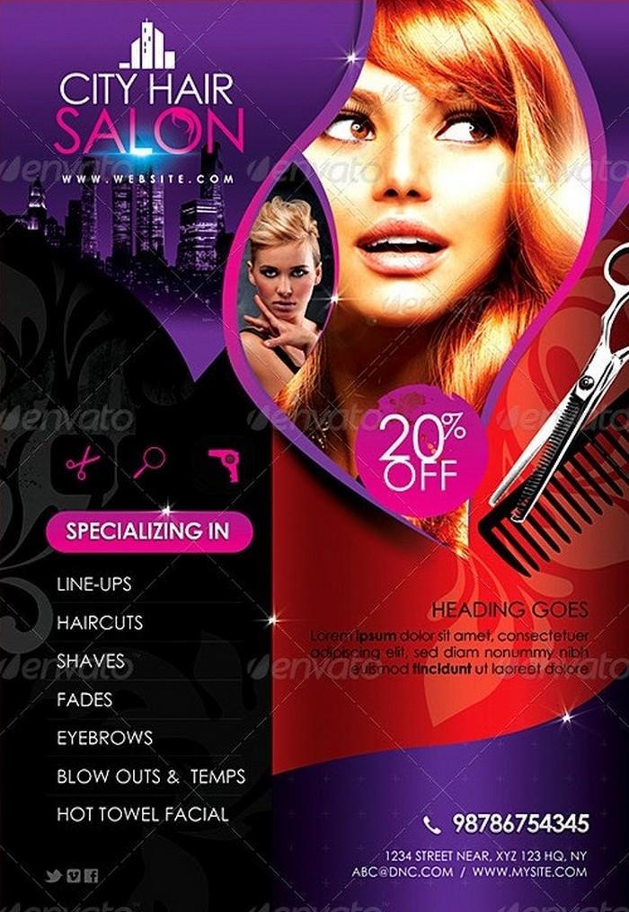 City Hair Salon Promotional Flyer V2
