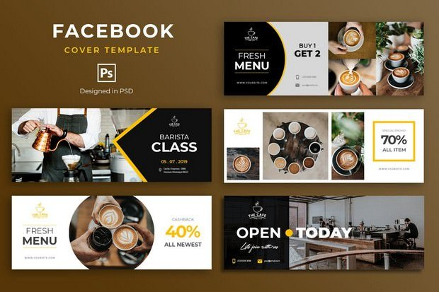 Coffee Facebook Cover Template