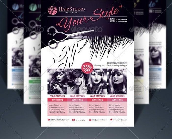 Creative Hair Salon Flyer