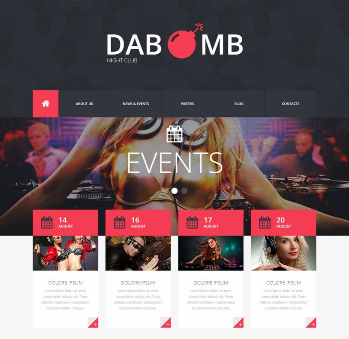 Dab MB Night Club Responsive Website Template