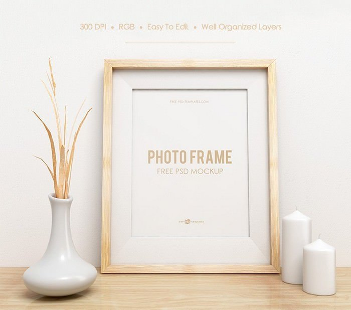 PHOTO FRAME MOCK-UP IN PSD
