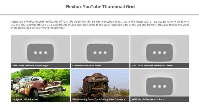 Flexbox YouTube Thumbnail Grid