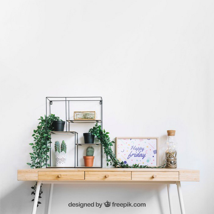 Frame Mockup Decorated Table