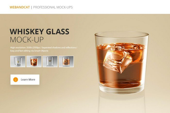 Glass Mockup - Whiskey Glass