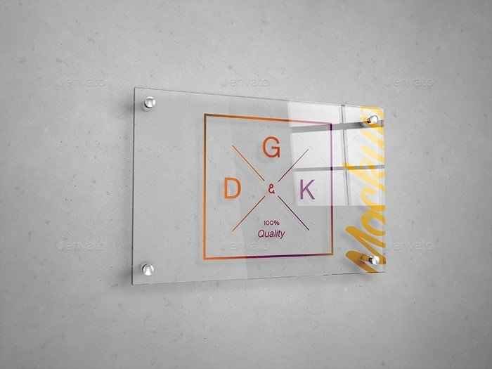 Glass Signage Mockup