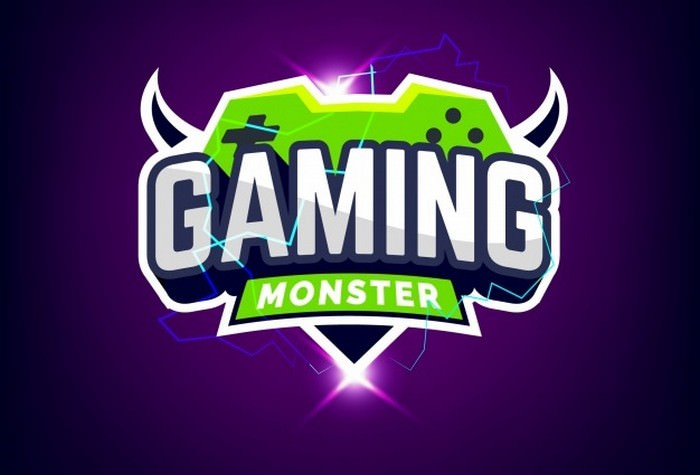 Green And Purple Gaming Logo