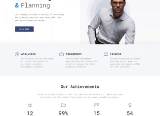 HTML5 Theme for Consulting Firm Website Template Free
