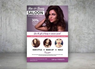 Hair & Beauty Care Salon Flyer Template