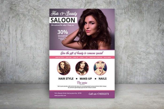 Hair & Beauty Care Salon Flyer Template