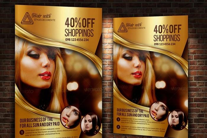 Hair Salon and Beauty Care Flyer
