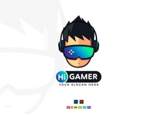 Hi Gamer - Gaming Logo Design