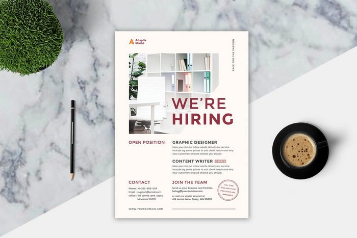 Hiring Promotion Recruitment Flyer