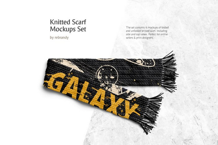 Knitted Scarf Mockups