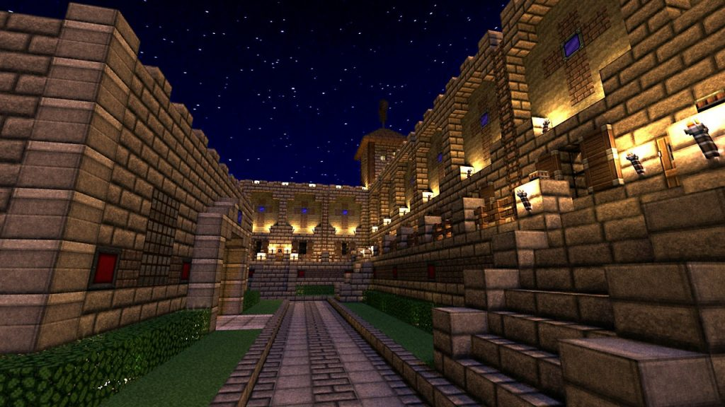 Minecraft Castle Night Background