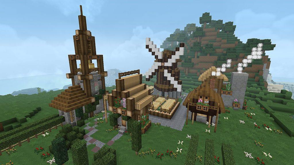 Minecraft Village View