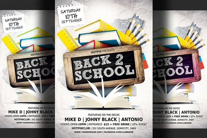 Modern Back to School Party Flyer
