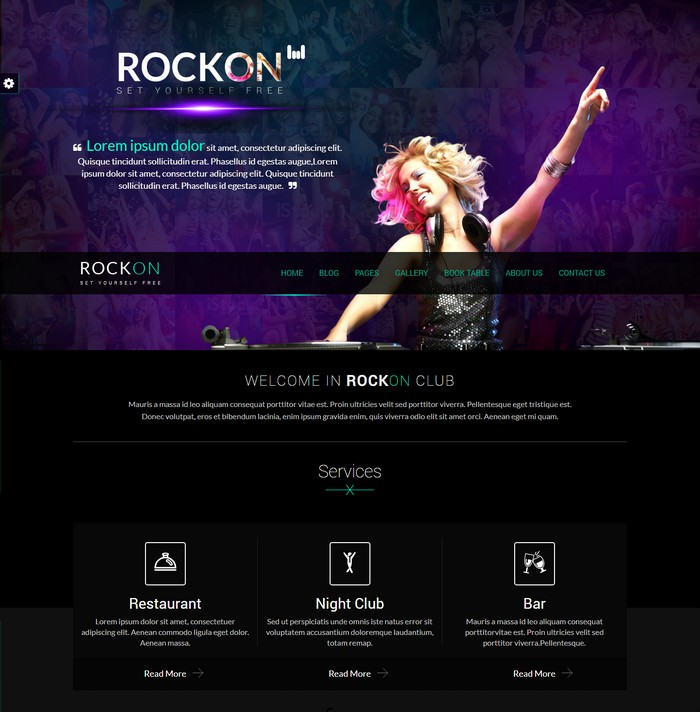 Music Club - Rockon HTML Template