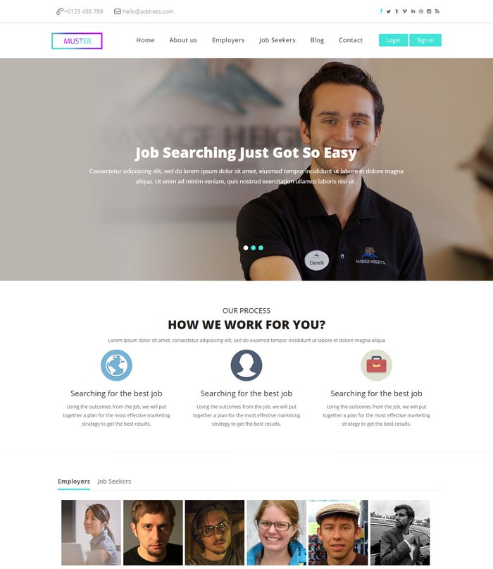 Muster a Corporate Business Web Template