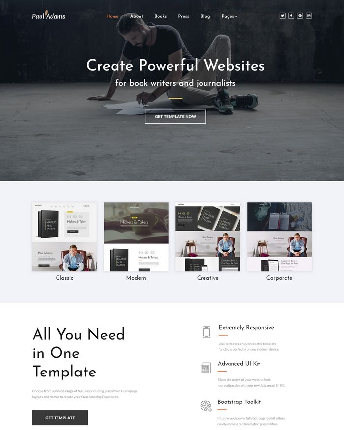 Paul Adams - retina ready website template