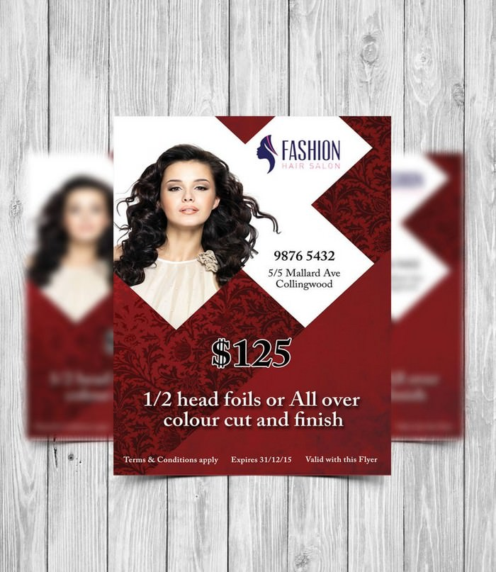 Printable Hair Salon Flyer Template