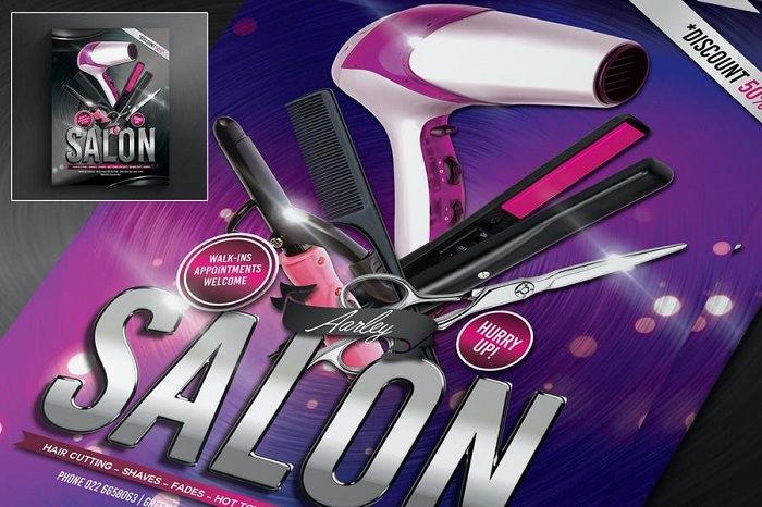 Promotional Salon Flyer 4×6 CMYK 300 dpi PSD
