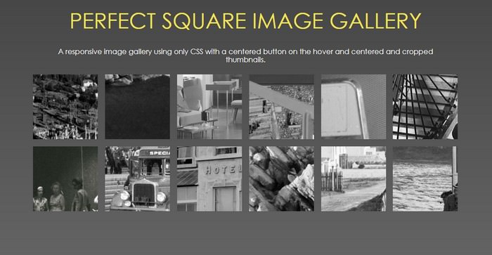 Pure CSS Perfect Square Thumbnails Gallery