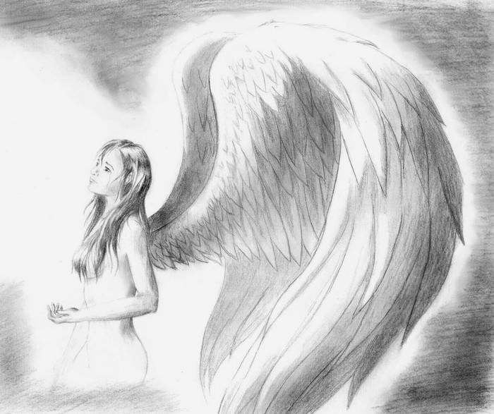 Sad Angel Drawings