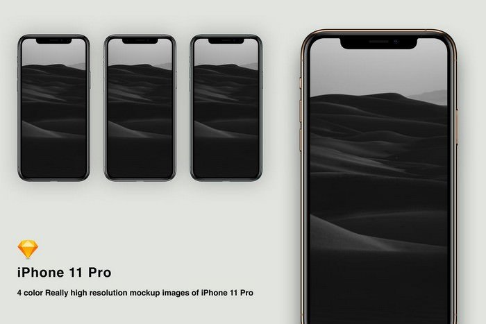 Sketch mockup iPhone 11 pro