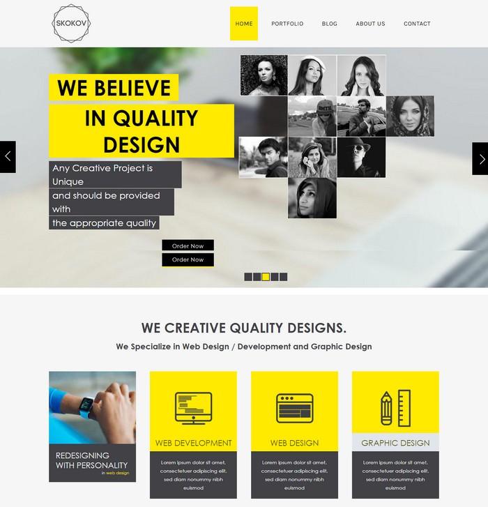 Skokov Corporate Flat Responsive Web Template
