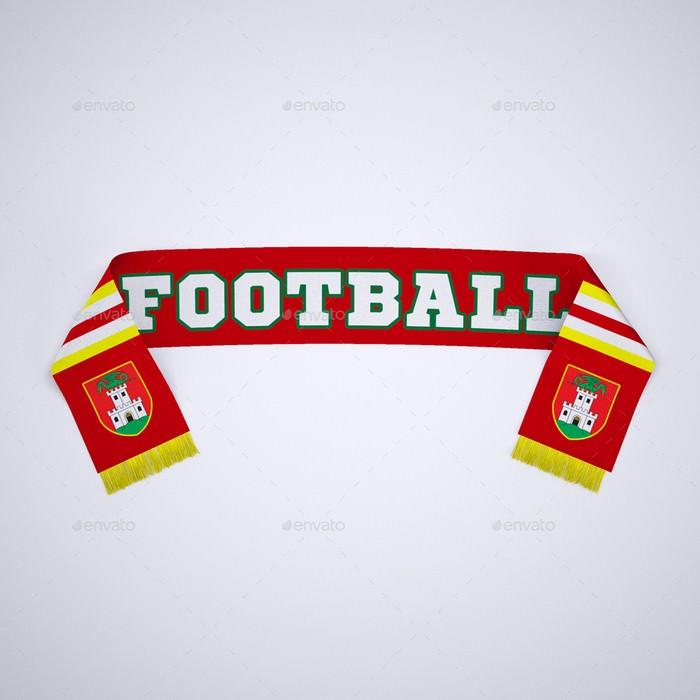 Soccer, Football Fan Scarf Mock-Up